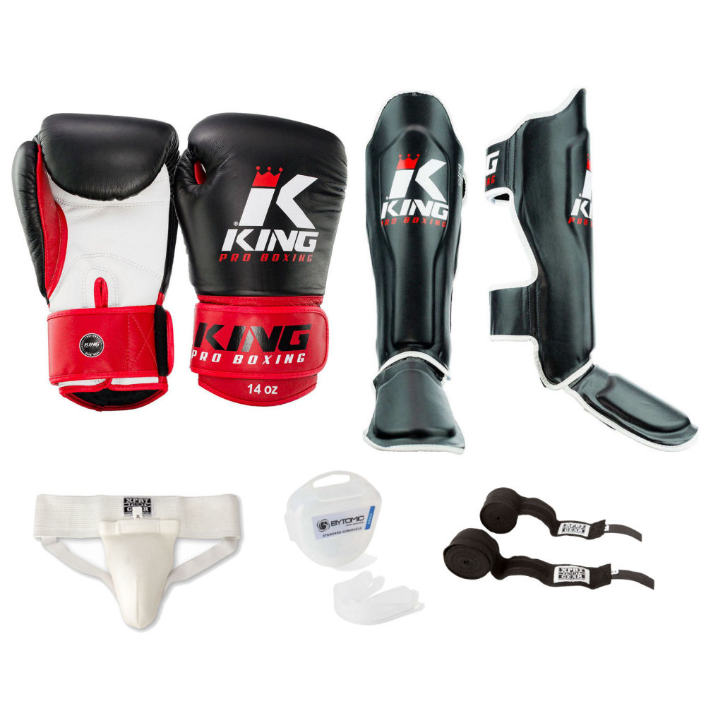 King Pro Muay Thai Set Zwart-Rood